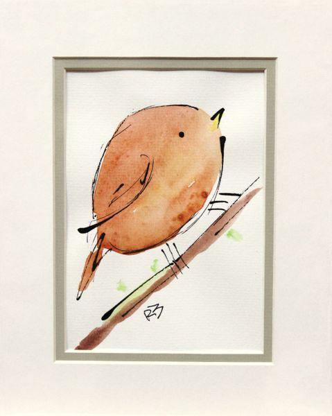 Watercolor Bird #497
