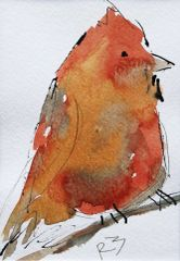 Watercolor Bird #425