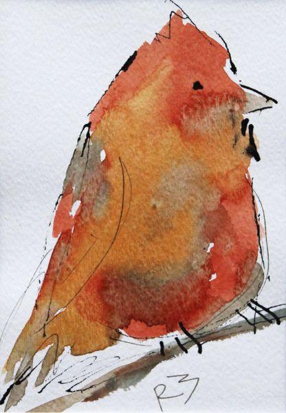 Watercolor Bird #425