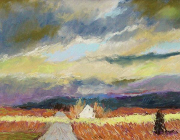 Storm Across the Wheat Farm