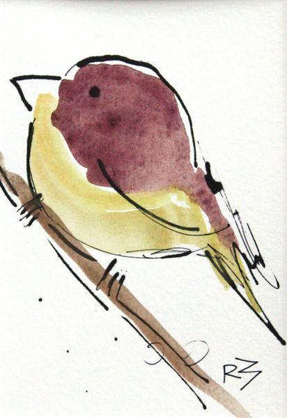 Watercolor Bird #514