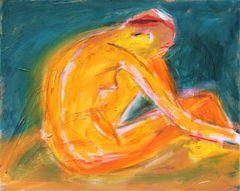 Tangerine on Teal