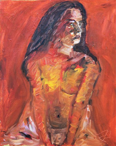 Nude on Orange