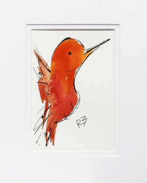 Watercolor Bird #518