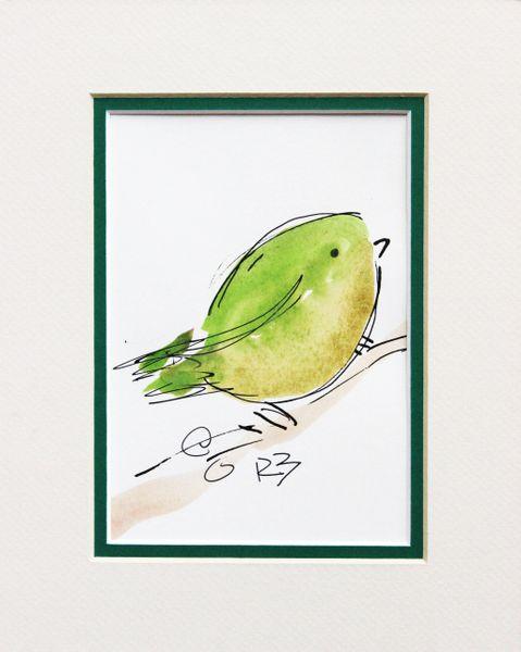 Watercolor Bird #508