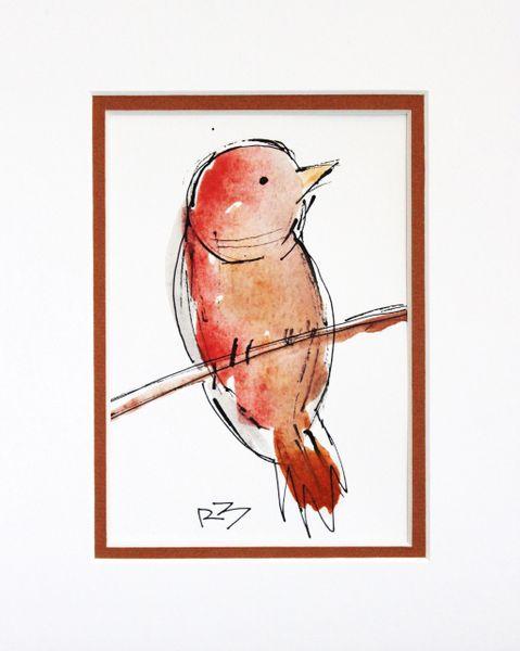 Watercolor Bird #506