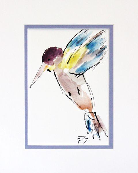 Watercolor Bird #502
