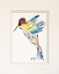 Watercolor Bird #501