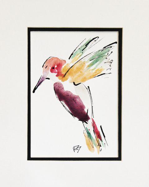 Watercolor Bird #500