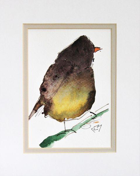 Watercolor Bird #484