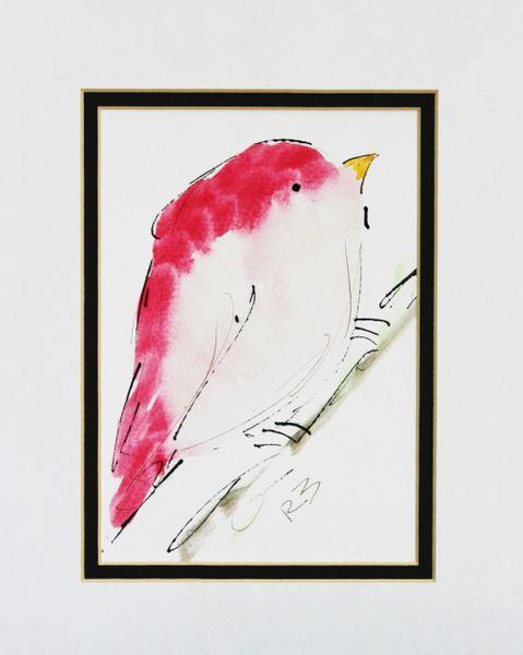 Watercolor Bird #470