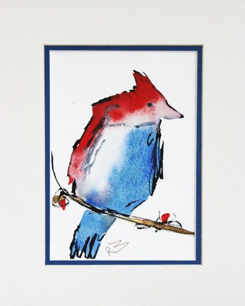 Watercolor Bird #140