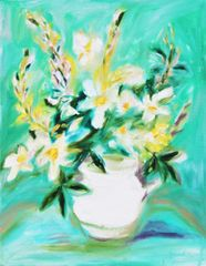 Bouquet in a White Vase