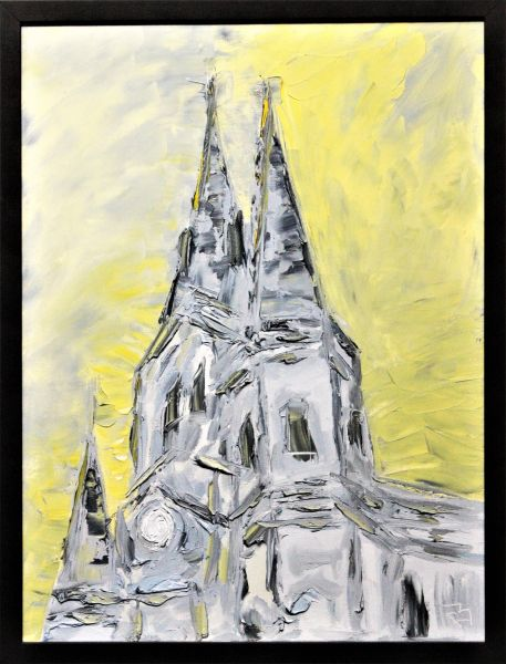 St. Louis Cathedral on a Yellow Sky