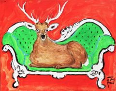 Deer on Sofa