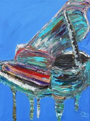 Piano on Periwinkle