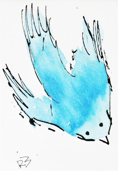 Watercolor Bird #247