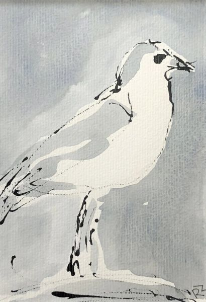 Watercolor Bird #523