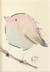 Watercolor Bird #522