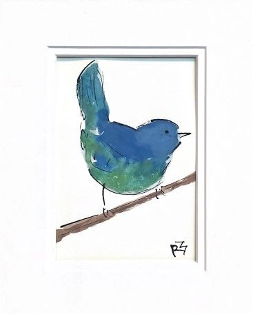 Watercolor Bird #524
