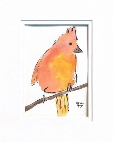 Watercolor Bird #525