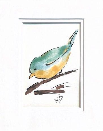 Watercolor Bird #526