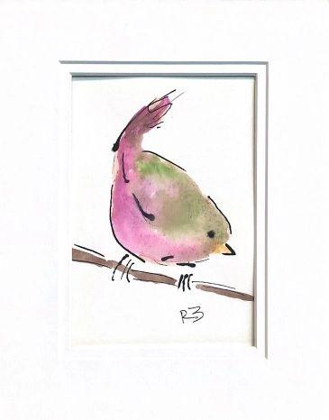 Watercolor Bird #527