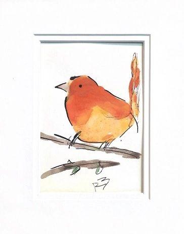 Watercolor Bird #528