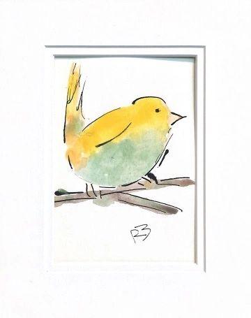 Watercolor Bird #529