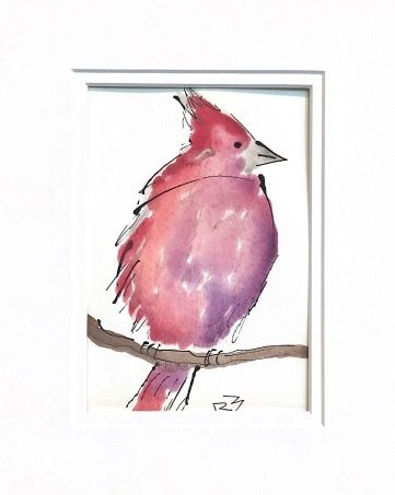 Watercolor Bird #530