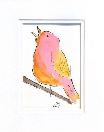 Watercolor Bird #531