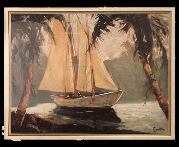 """Sailboat, Santa Barbara"" (Print) - Frederick Alexander Pawla"