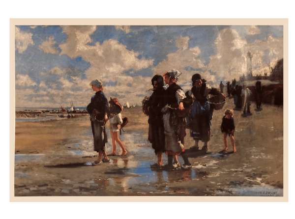 """""""Oyster Gatherers of Cancale"""" (Print) - John Singer Sargent"""