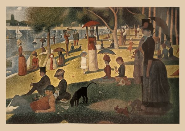 """""""A Sunday Afternoon on the Island of La Grande Jatte"""" (Print) -Georges Seurat"""