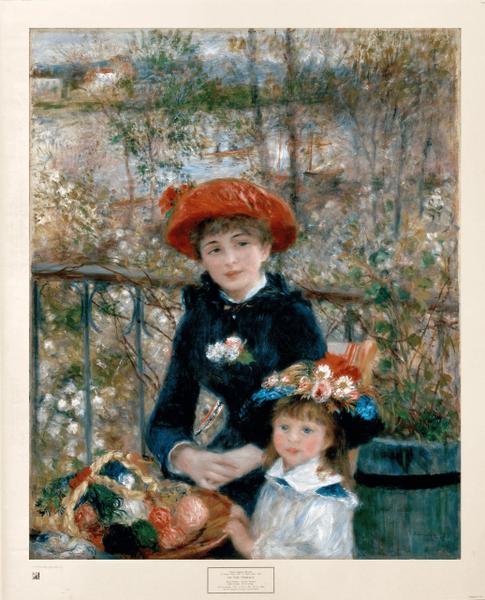 """Two Sisters (On the Terrace)"" (Print) - Pierre-Auguste Renoir"