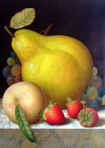 Pear and Strawberries