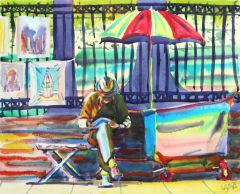 New Orleans | Artist on Bench