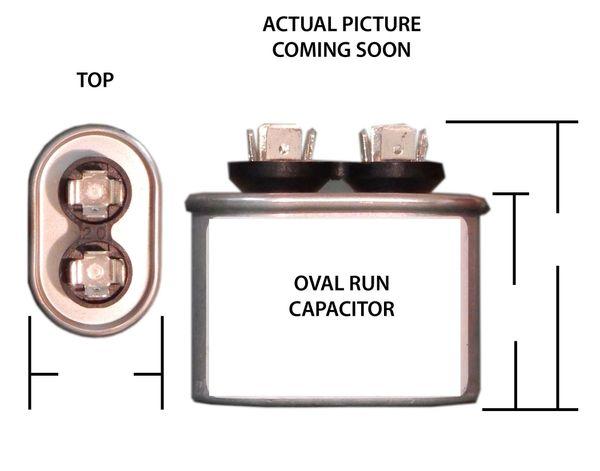 40 MFD 440 VAC Oval Motor Run Capacitor