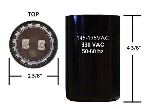 145-175 MFD 330 VAC Motor Start Capacitor