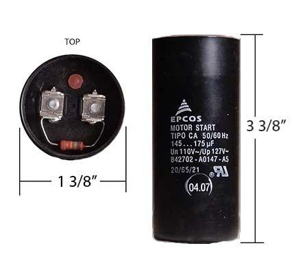 WEG 145-175 MFD 110 Volt Motor Start Capacitor