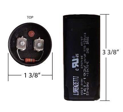 WEG 161-193 MFD 110 Volt Motor Start Capacitor