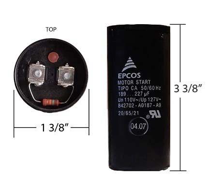 WEG 189-227 MFD 110 Volt Motor Start Capacitor