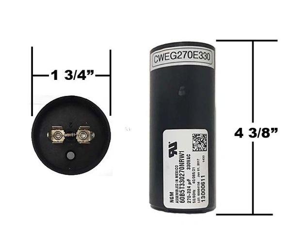 WEG 270-324 MFD 330 Volt Motor Start Capacitor