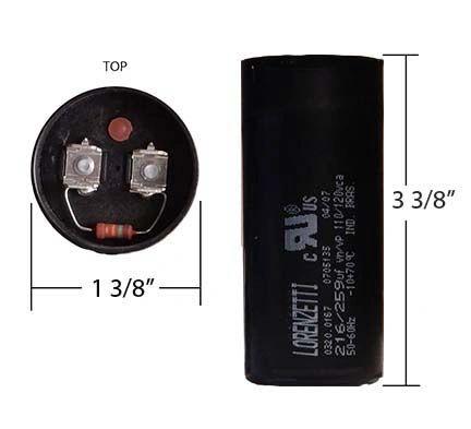 WEG 216-259 MFD 110 Volt Motor Start Capacitor