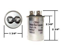 10 MFD 440 VAC Round Run Capacitor