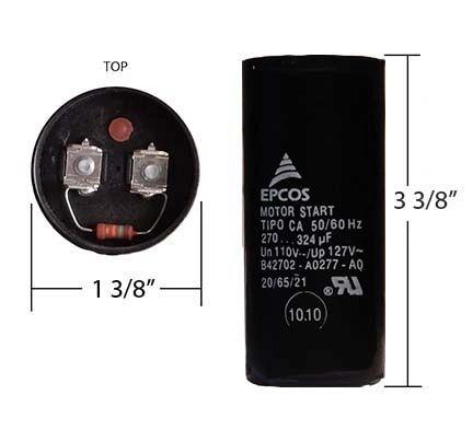 WEG 270-324 MFD 110 Volt Motor Start Capacitor