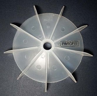 "WEG Cooling Fan 15 mm bore 6 1/4"" OD"