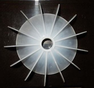 "WEG Cooling Fan 23 mm bore 7 1/8"" OD for IEC motors"