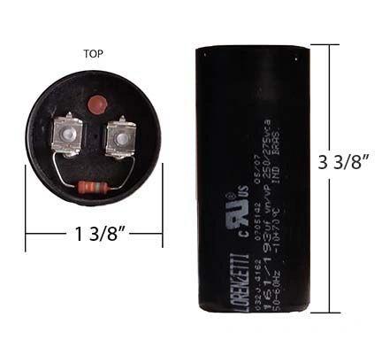 WEG 161-193 MFD 250 Volt Motor Start Capacitor
