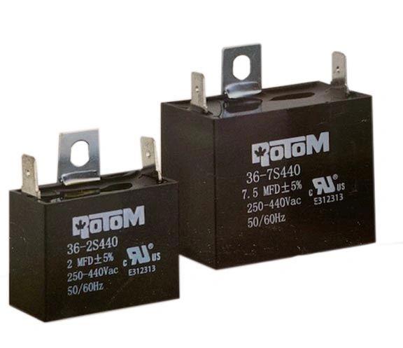 2 MFD 440 VAC CBB61 Square Capacitor